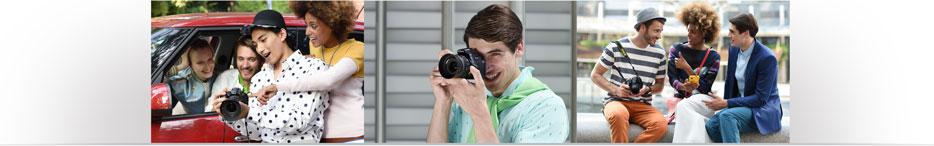 trio of candid portrait images shot with the Nikon D5600 DSLR