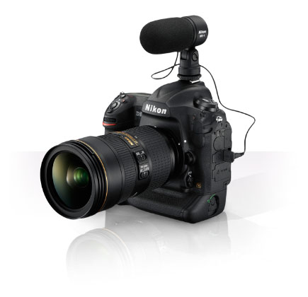 D5 DSLR with ME-1 Stereo Mic on the hot-shoe