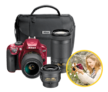 Photo of D3400 Triple Lens Parent's Camera Kit