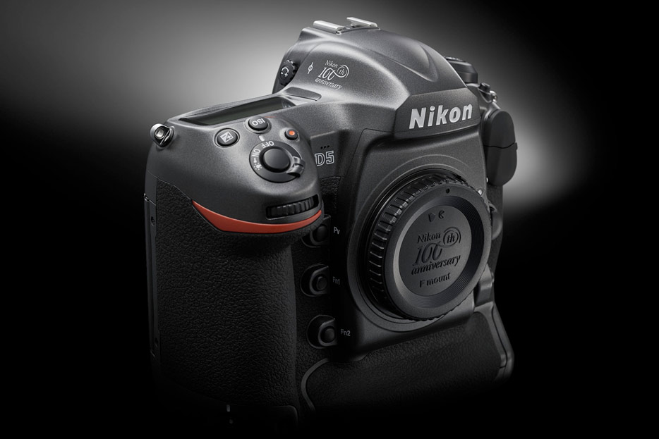 photo of the 100th anniversary edition D5 DSLR camera