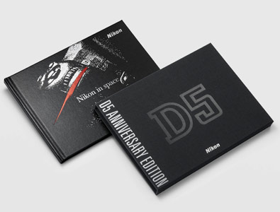 photo of the brochure and booklet that comes with the anniversary edition D5