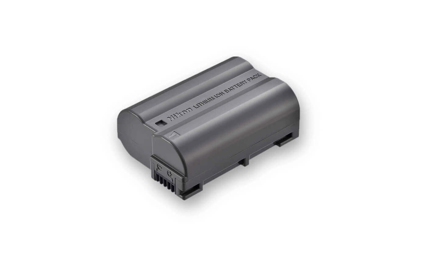 Foto de una batería de ión de litio EN-EL 15a
