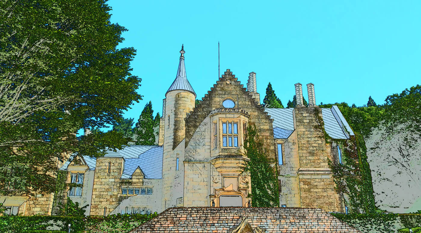 Modo de efectos especiales (ilustración de fotos): se muestra una construcción que se parece a un castillo