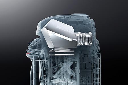 Illustration of the D850 DSLR's TTL system