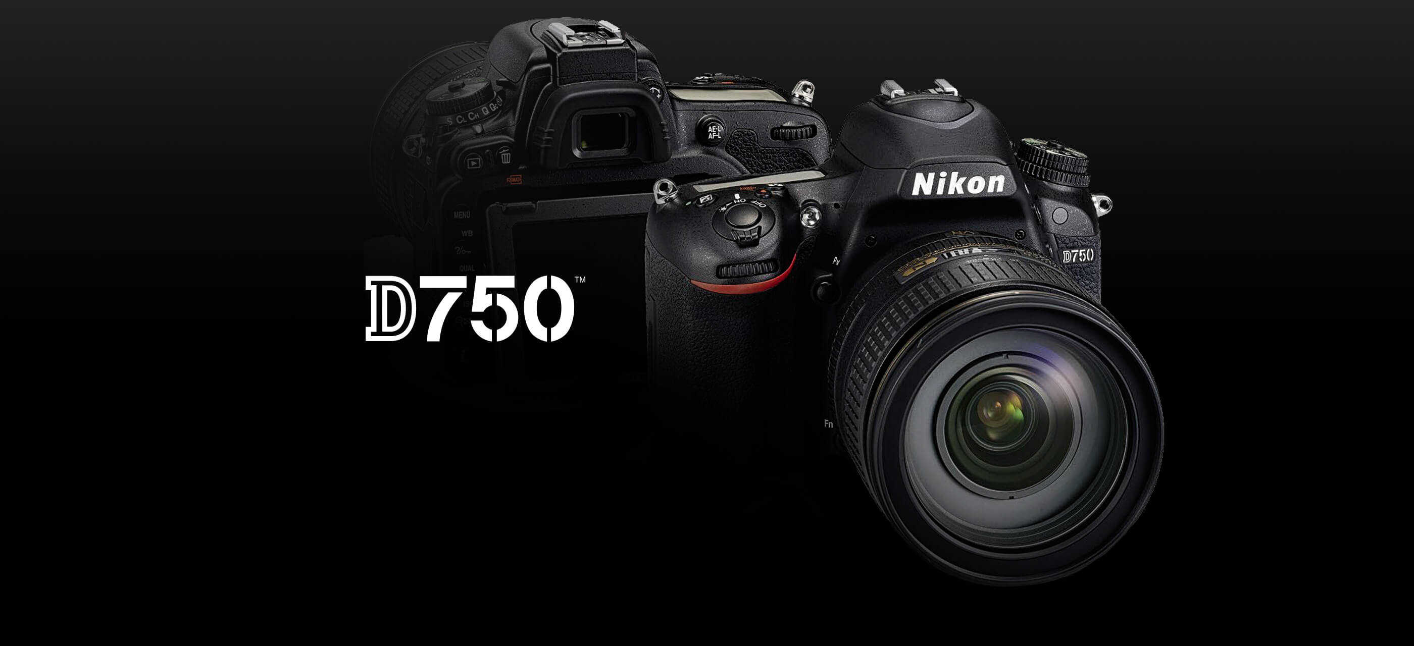 D750 black Nikon digital camera