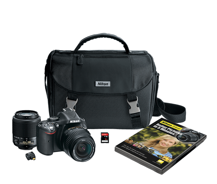 Photo of D5200 Two Lens Kit Black