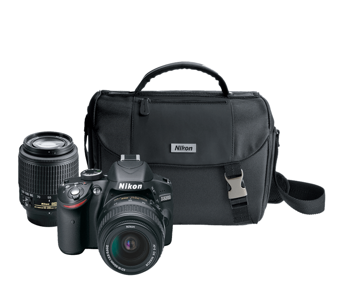 Photo of  D3200 Double Zoom Lens and Case Kit Black