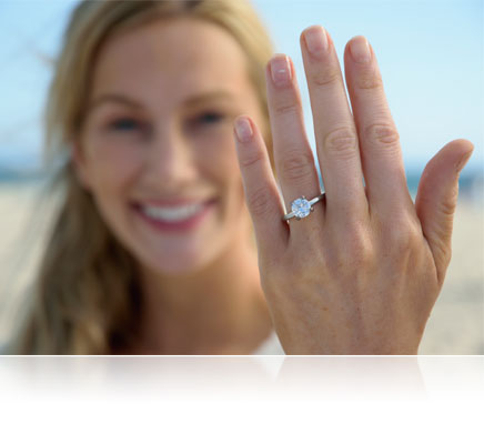 D5300 photo of a woman showing an engagement ring on her hand
