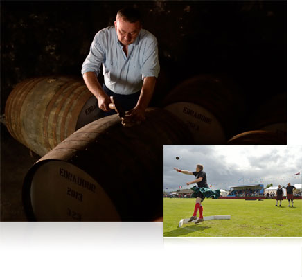 Nikon Df photo of a man in low light working on a barrel, inset with an athlete
