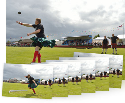 Nikon Df photo of a track and field athlete inset with multiple shots showing 5.5 fps continuous shooting