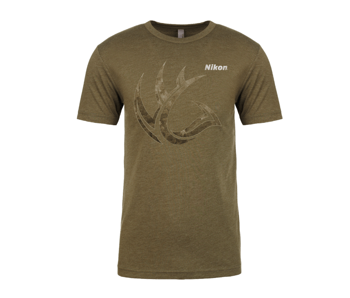 Photo of MILITARY GREEN CAMO ANTLER SHIRT