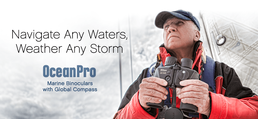 Navigate Any Waters Weather Any Storm OceanPro Binoculars