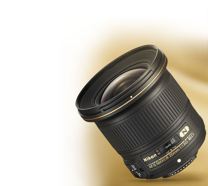 Product photo of the AF-S NIKKOR 20mm f/1.8G ED lens