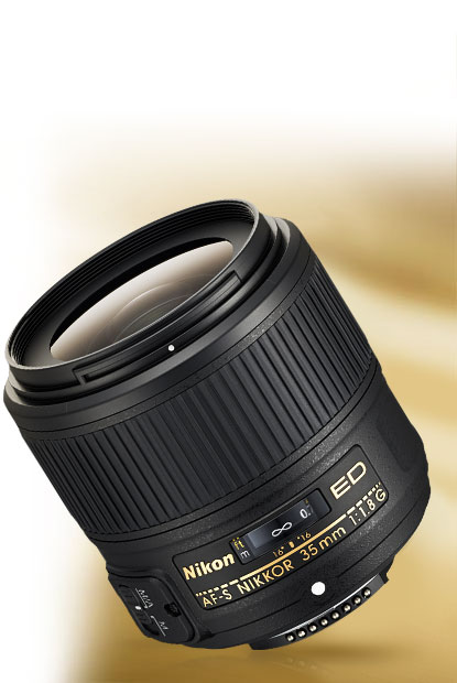 Product photo of the AF-S NIKKOR 35mm f/1.8G ED lens