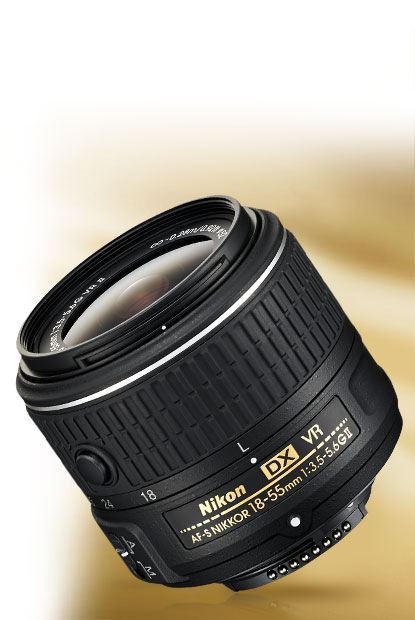 Product photo of the AF-S DX NIKKOR 18-55mm f/3.5-5.6G VR II lens