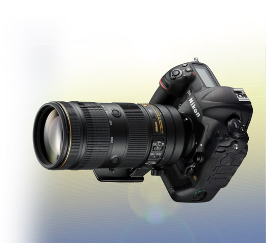 product photo of the AF-S NIKKOR 70-200mm f/2.8E FL ED VR on a Nikon DSLR