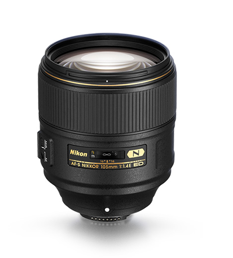 product photo of AF-S NIKKOR 105mm f/1.4E ED lens