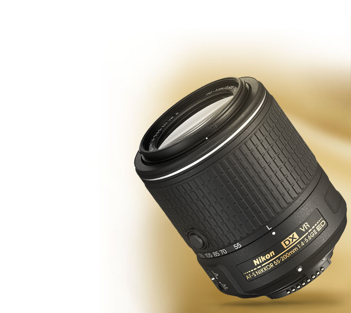 Product photo of the AF-S DX NIKKOR 55-200mm f/4-5.6G ED VR II lens