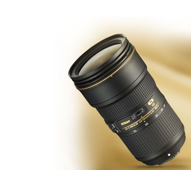 product shot of the AF-S NIKKOR 24-70mm f/2.8E ED VR lens