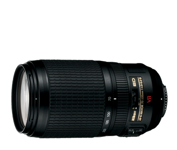 Compact, high-performance telephoto zoom lens with VR II from Nikon