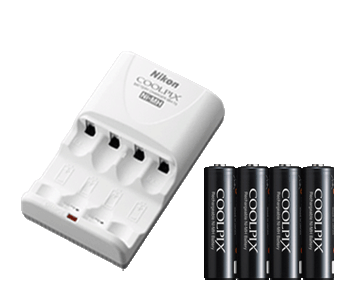 EN-MH2-B4/MH-73 Kit (4 Rechargeable Batteries + Charger)