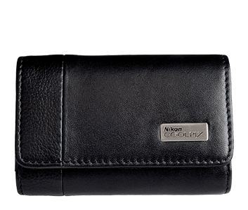 COOLPIX Black Leather Horizontal Case