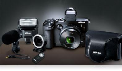 1 s1 1 j3 1v3 Cámara micrófono estéreo para Nikon Coolpix 1 j1