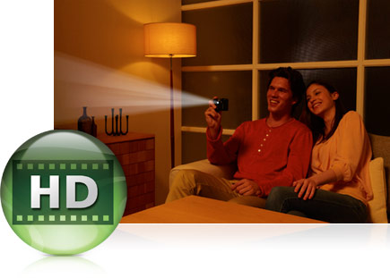 Instantly project HD movies taken with your COOLPIX S1200pj camera
