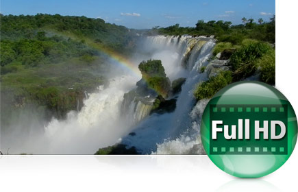 Still image from a full HD (1080p) movie of waterfalls in Foz do Iguacu, Brazil shot with a COOLPIX P510