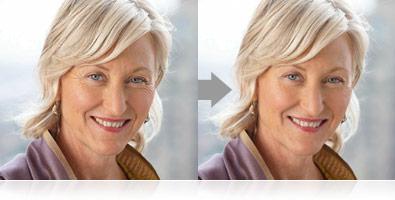 Exemplo de retratos registrados com o modo de Retrato Inteligente da COOLPIX S6200