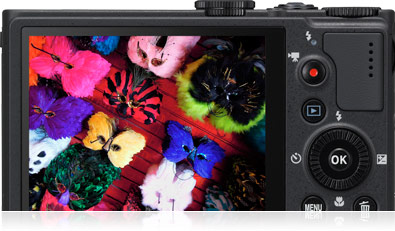 Image of the COOLPIX P310's ultra-high-resolution 3.0-inch LCD monitor