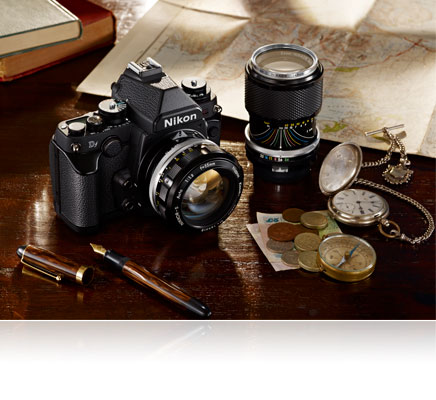 Photo of the Nikon Df and legacy non-AI NIKKOR lenses