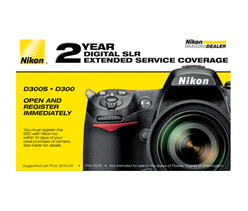 D300, D300s Extended Service Coverage (2 Years)