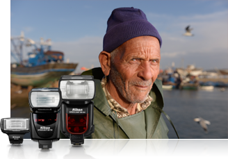 Portrait of a fisherman photographed with the Nikon D610 using Speedlights
