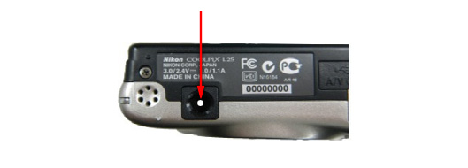 Location of the white circle on the tripod socket