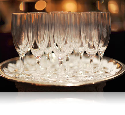 Photo of champagne glasses shot using the AF-S NIKKOR 50mm f/1.4G lens