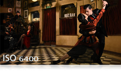 D7200 photo of tango dancers in a bar