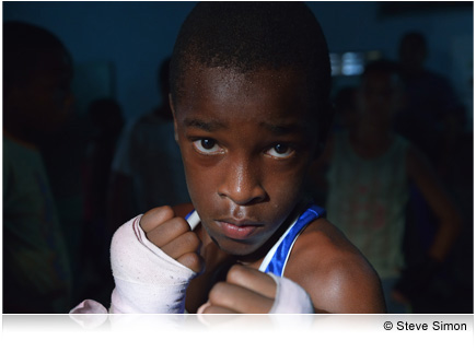Photo of a young boxer facing the camera, taken with the AF-S NIKKOR 24-85mm f/3.5-4.5G ED VR lens.
