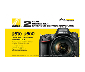 D610, D600 Extended Service Coverage (2 Years)