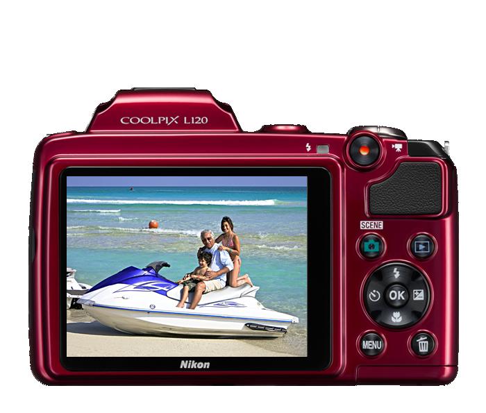 Фотоаппарат Nikon COOLPIX L120 Red. голоса. отзыва.