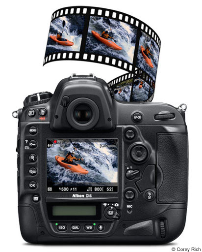 Full HD D-Movie (1080p) video formats: FX, DX or the new 2.7x Crop mode—all at 16:9 aspect ratio