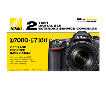 D7000, D7100, D7200 Extended Service Coverage (2 Years)