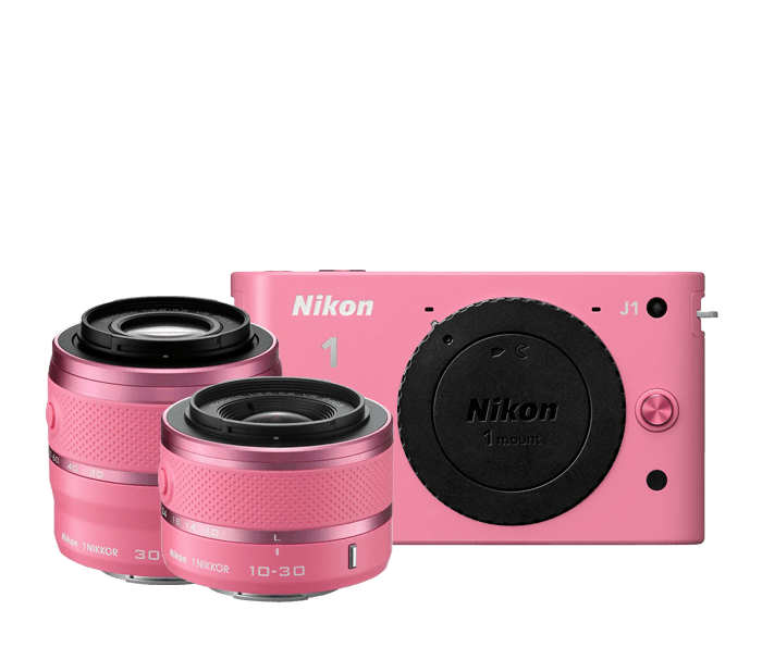 Nikon 1 J1 Two Lens Zoom Kit in Pink